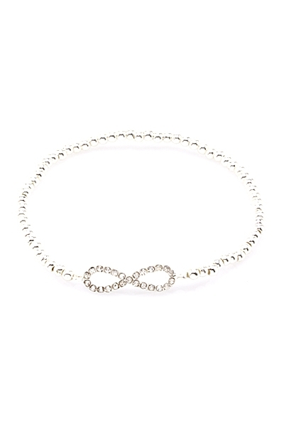 Forever Infinity Beaded Stretch Bracelet