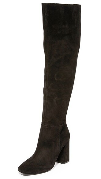 over the knee boots liberty black shoes