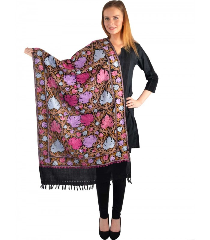 UPTOWN Women's Thread Jaal Woollen Shawl - Shawls & Stoles - WINTER WEAR