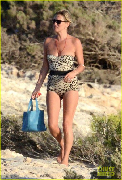 leopard print swimwear celebrity swimsuit kate moss