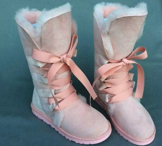 boots winter boots flat boots pink