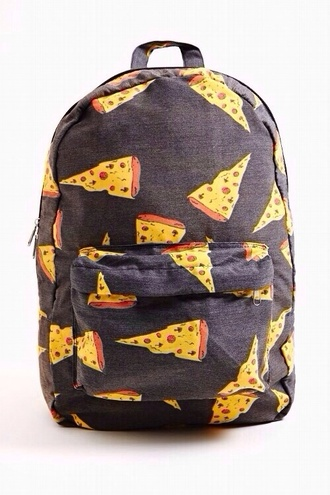 bag black pizza backpack red dress red yellow dress
