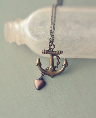 jewels necklace anchor sailor