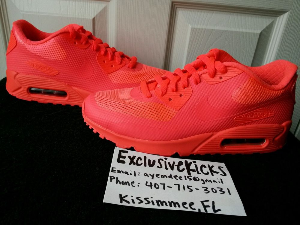 Nike Air Max 90 Id Hyperfuse Rouge Et Blanc