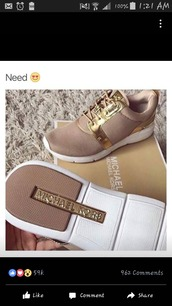 shoes,michael kors,nude sneakers,low top sneakers,michael kors shoes