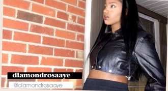 jacket diy dope diy black crop tops leather jacket sunglasses california girl beauty california top youtuber youtube beautiful mesh black dress black crop top black and white bad bitches link up badass bad girls club baddies baddiekouture_
