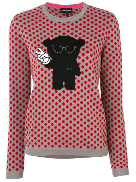 Emporio Armani jumper women cotton wool grey sweater