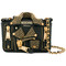 Moschino - small biker shoulder bag - women - leather - one size, black, leather