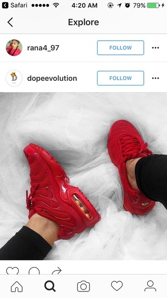 shoes red air max nike red sneakers