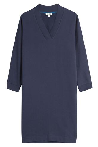dress sweatshirt dress blue