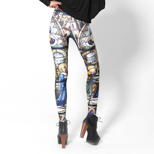 "2013 leggings for women junior leggings ""black milk"" cathedral leggings, view cathedral leggings, cathedral leggings product details from yiwu doodle e"
