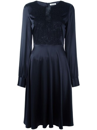 dress women spandex cotton blue silk