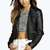 Boutique Poppy Crop Leather Look Biker Jacket