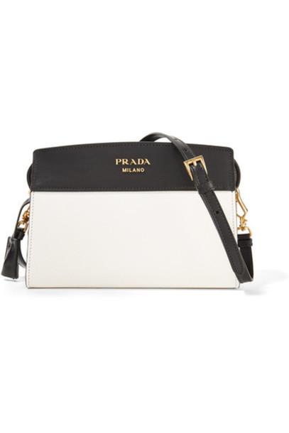 a54aa57c370c Prada - Esplanade Small Two-tone Leather Shoulder Bag - White ...