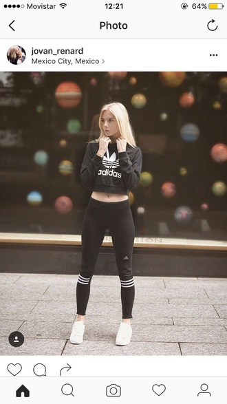 sweater adidas cool grunge tumblr tumblr girl blonde hair weheartit fashion sportswear top tumblr outfit the blonde haired girll casual sport sweater sweatshirt