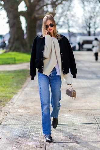 le fashion image blogger sunglasses jacket cardigan jeans