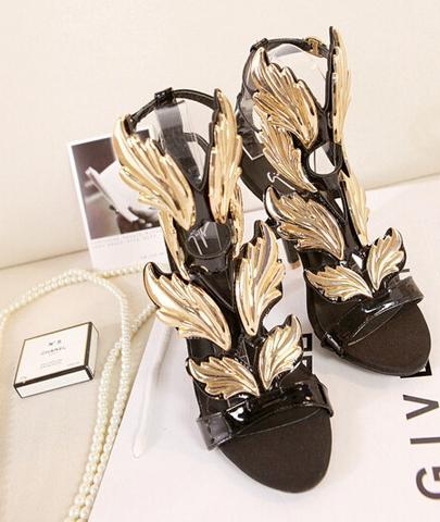 Gold Leaf Shoes