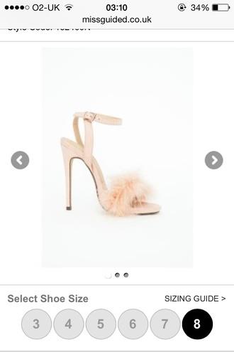 feather heels nude heels missguided heels fur heels high heel sandals sold out 90'd heels fluffy heels
