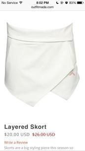 skirt,white skort