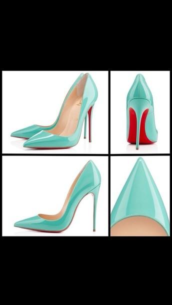 f1e932be975 shoes louboutin tiffany blue tiffany co so kate high heels blue high heels  sexy