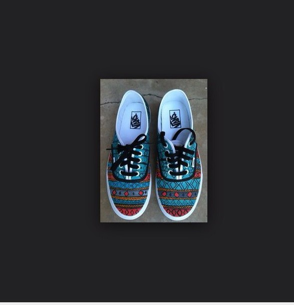 shoes patterned brand vans