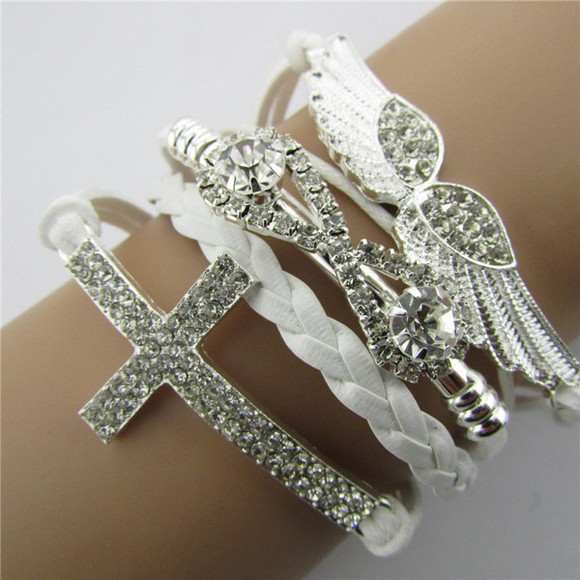 cross jewels girly cool cross bracelet charming popular jewelry wings bracelet jewelry bracelets style trendy streetstyle popular