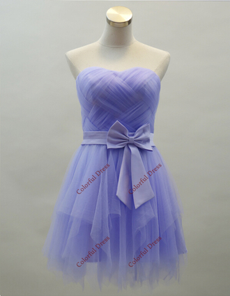 party dress short prom dress tulle dress bridesmaid purple dress short bridesmaid dress