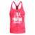 Sex, Weights & Shakes Stringer Vest Pink | Vain Train