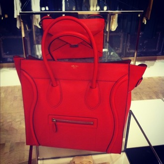 bag celine celine bag red