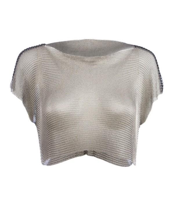 top metal mesh crop tops