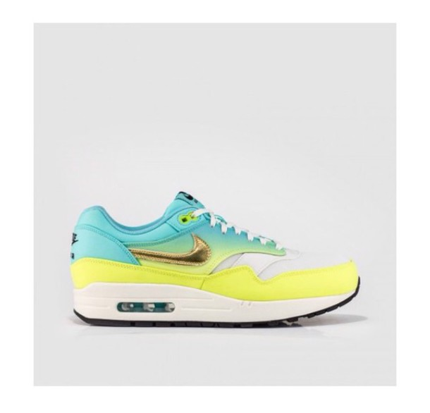 shoes style sneakers ombre turquoise dope swag nike air nike shoes nike sneakers nike running shoes fashion