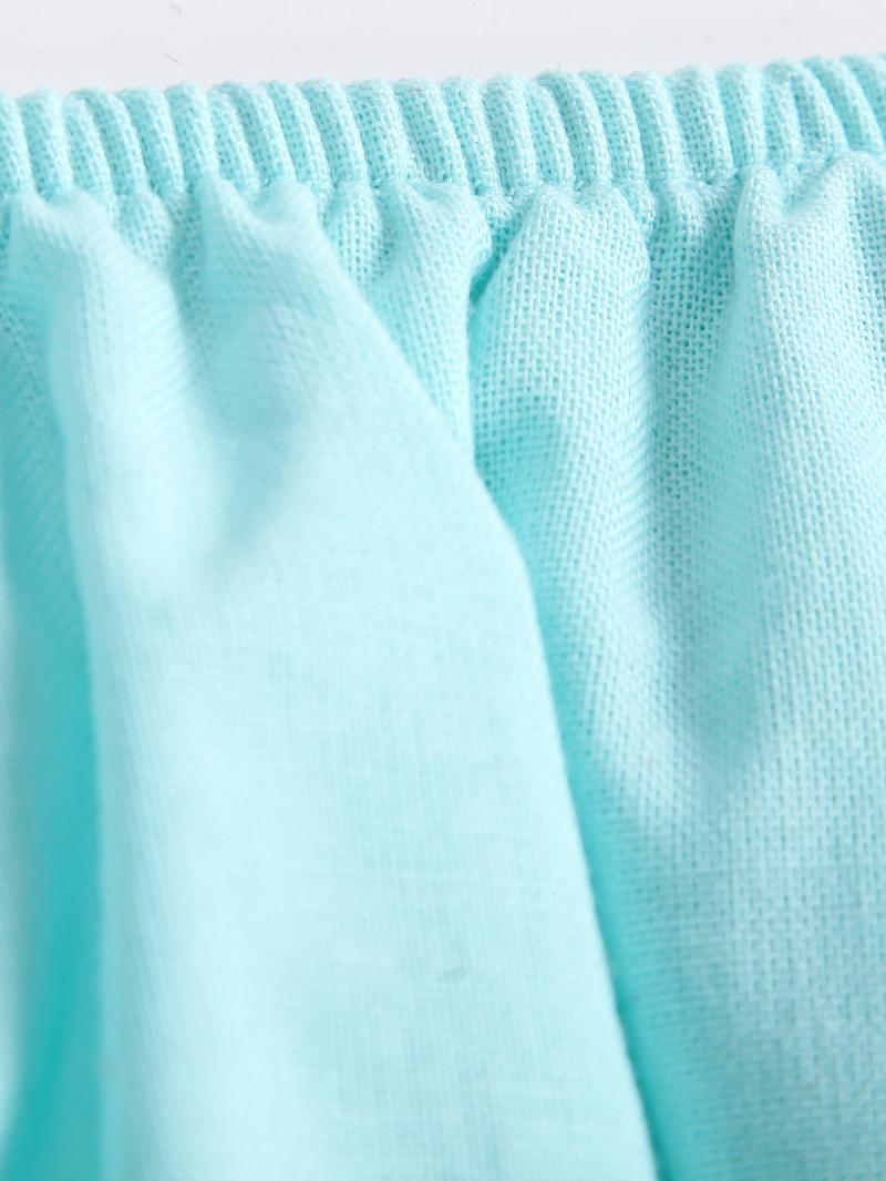 Blue Strapless Cascading Ruffle Jumpsuit - Sheinside.com