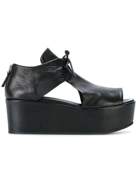 Marsèll women sandals platform sandals leather black shoes