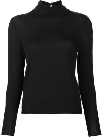 jumper turtleneck women black sweater