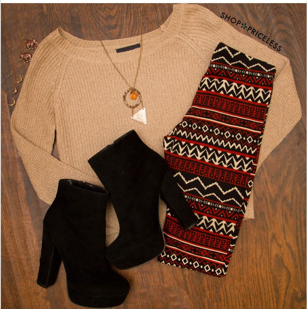 leggings shoes jewels cardigan clothes