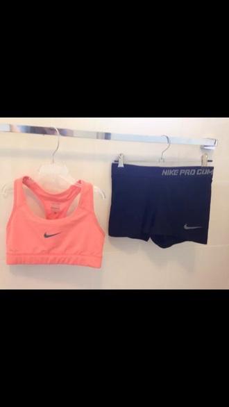 shorts coral nike coral black and coral nike black nike pro nike combat xs small active activewear selling ebay ebay.com