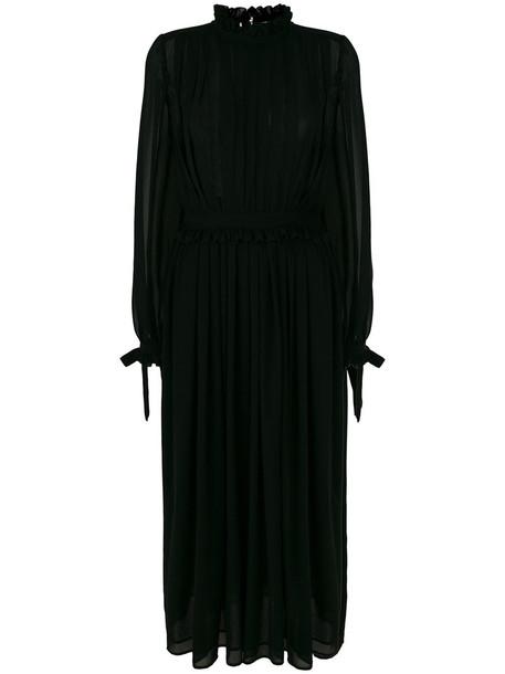 dress maxi dress maxi pleated women black