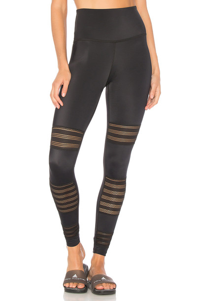 Beyond Yoga mesh midi black pants