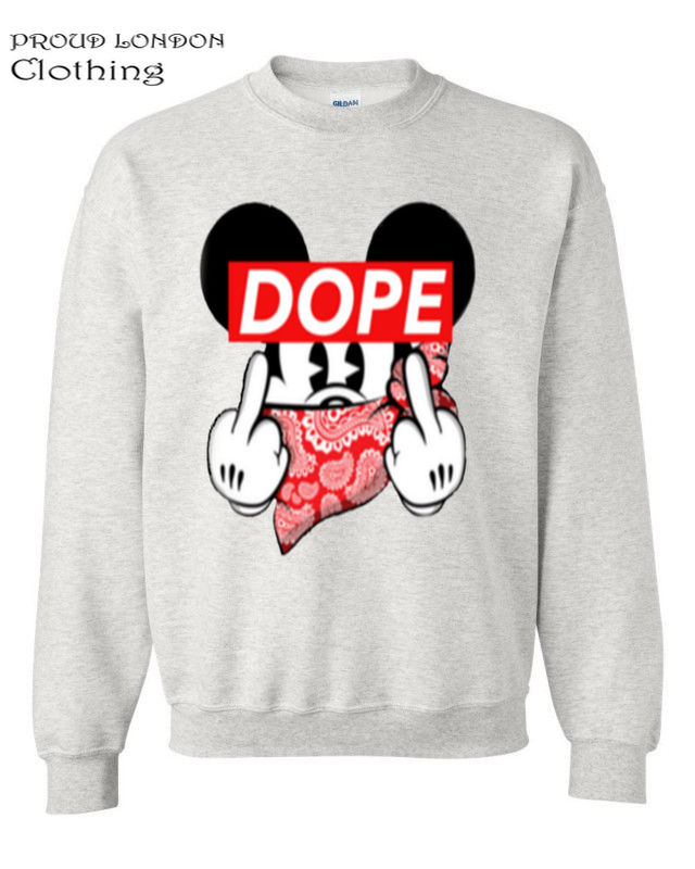 Mickey Dope Finger Mouse Sweater Trill Odd Dis Obey Future Sweatshirt Hands Swag | eBay