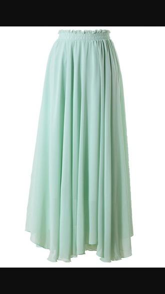 skirt flowy long maxi skirt
