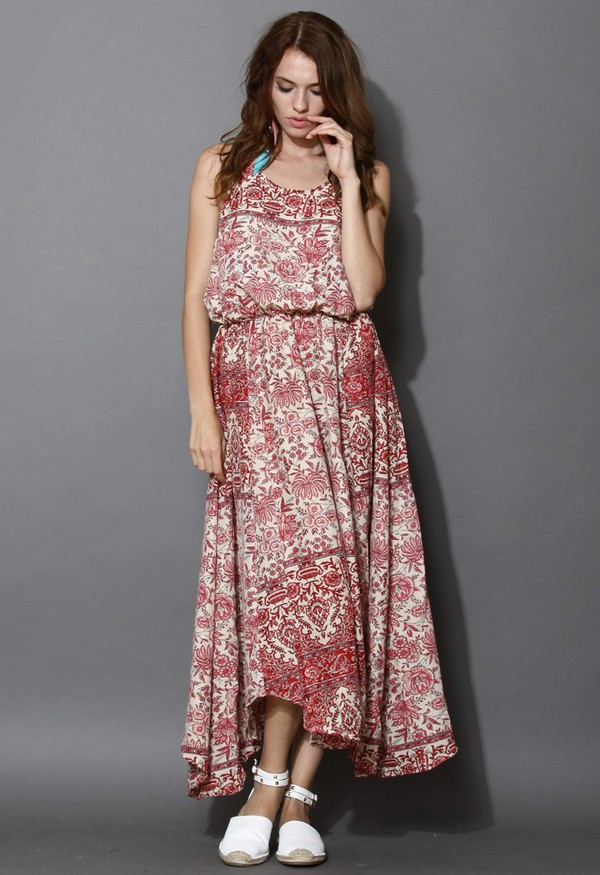 chicwish flowing dream floral print cami dress