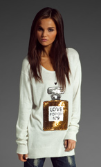 Wildfox Couture Love Potion NO.9 Sweater in Cream