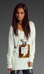 Wildfox Couture Love Potion NO.9 Sweater in Cream
