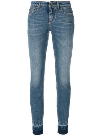 jeans women spandex fit leather cotton blue