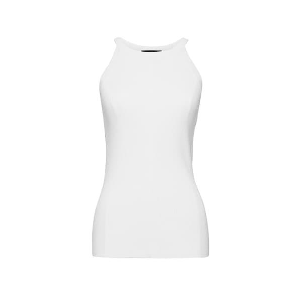 Banana Republic Women's Fitted Ribbed Sweater Tank White Regular Size M