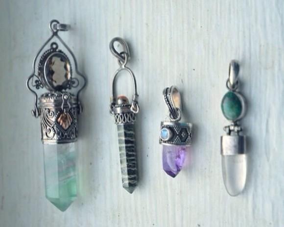 jewels necklace stone grunge necklace stone crystal pendant vintage magic
