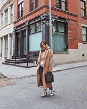 coat,tumblr,song of style,camel,camel coat,long coat,camel long coat,oversized,bag,handbag,boots,snake print,scarf