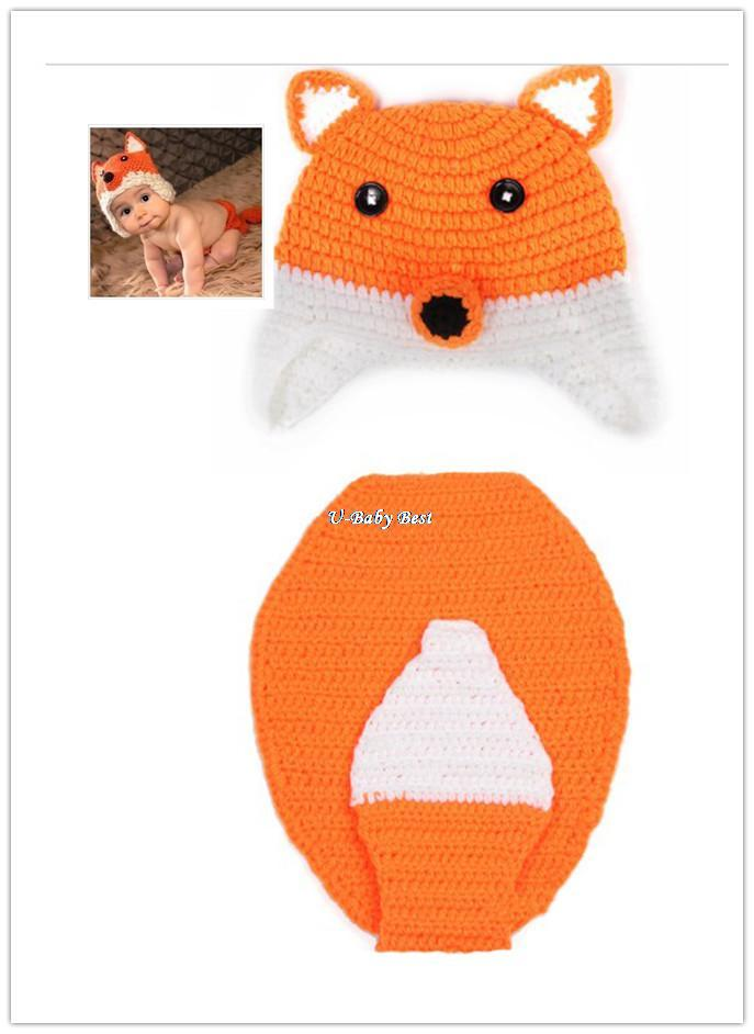 Handmade Crochet Fox Animals Design Baby Beanies Hats Caps Costume Newborn Boy Girl Photography Props For 0 12 Months-in Hats & Caps from Apparel & Accessories on Aliexpress.com | Alibaba Group