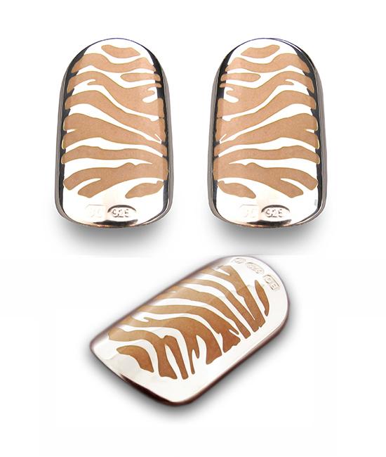 BOHEM Tropical Tiger nail art jewellery