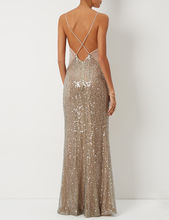 Moonlight Sequin Crossback Gown | Galvan | Avenue32